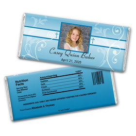 Innocent Adoration Personalized Candy Bar - Wrapper Only