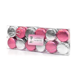 Personalized First Communion Pink Host & Silver Chalice 12PK Chocolate Covered Oreo Cookies