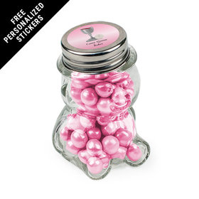 Personalized Communion Bear Jar Host and Silver Chalice (12 Pack)