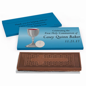 Deluxe Personalized Classic First Communion Embossed Chocolate Bar in Gift Box