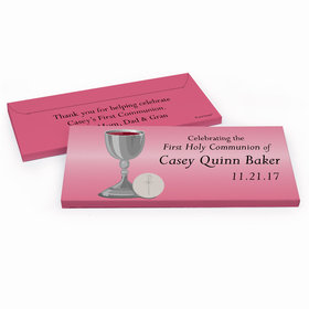 Deluxe Personalized Classic First Communion Chocolate Bar in Gift Box