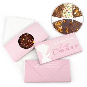 Personalized Precious Prayers First Communion Gourmet Infused Belgian Chocolate Bars (3.5oz)