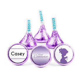 Personalized Girl First Communion Child in Prayer Hershey's Kisses (50 pack)