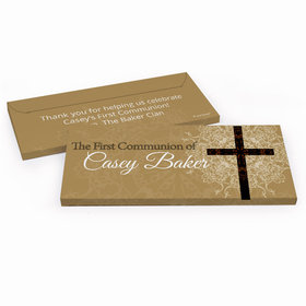 Deluxe Personalized Shining Day First Communion Chocolate Bar in Gift Box