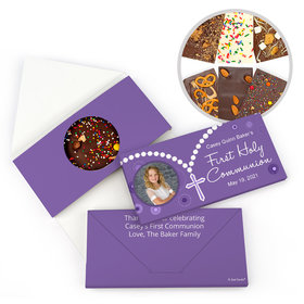 Personalized Rosary First Communion Gourmet Infused Belgian Chocolate Bars (3.5oz)