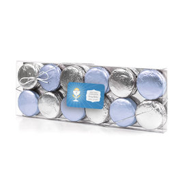 Personalized First Communion Blue Chalice & Holy Host 12PK Chocolate Covered Oreo Cookies