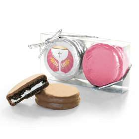 First Communion Pink Chalice & Holy Host 2Pk Chocolate Covered Oreo Cookies