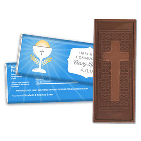Personalized First Communion Chalice Embossed Chocolate Bar