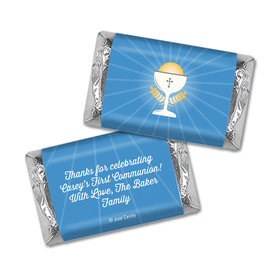Personalized First Communion Chalice Hershey's Miniatures Wrappers