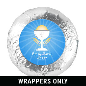 "Personalized Communion Chalice 1.25"" Stickers (48 Stickers)"