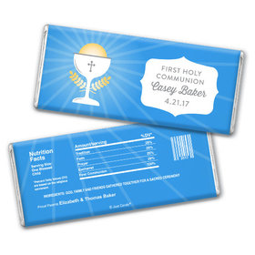 Personalized First Communion Chalice Chocolate Bar & Wrapper
