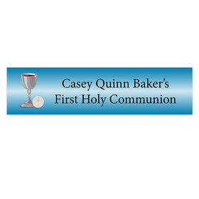 Personalized Communion Host & Silver Chalice Banner