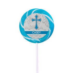 Personalized Communion Fluer Di Lis Cross- 24 Pack