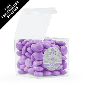 Communion Favor Personalized Box Fluer Di Lis Cross