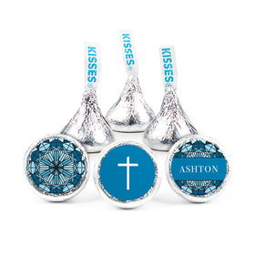 """Personalized Stained Glass Communion 3/4"""" Stickers (108 stickers)"""