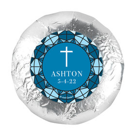"""Personalized 1.25"""" Stickers - Communion Stained Glass (48 Stickers)"""