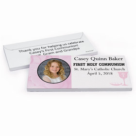 Deluxe Personalized Photo & Eucharist First Communion Chocolate Bar in Gift Box