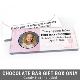 Deluxe Personalized Photo & Eucharist First Communion Candy Bar Favor Box