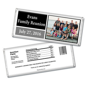 Family Reunion Personalized Chocolate Bar Photo and Date