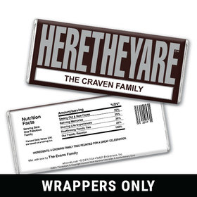 HERETHEYARE Family Reunion Personalized Candy Bar - Wrapper Only