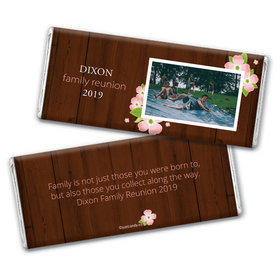 Family Reunion Personalized Chocolate Bar Wrappers Dogwood