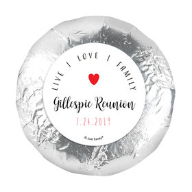 """Personalized 1.25"""" Stickers - Family Reunion Live-Love-Family (48 Stickers)"""