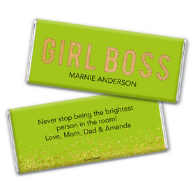 Personalized Girl Boss Chocolate Bar & Wrapper