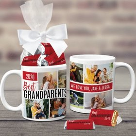 Personalized Best Grandparents Ever 11oz Coffee Mug with approx. 24 Wrapped Hershey's Miniatures