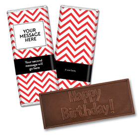 Personalized Adult Birthday Embossed Happy Birthday Chocolate Bar & Wrapper