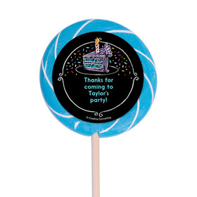 "Chalk Birthday Personalized 3"" Lollipops (12 Pack)"