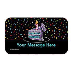 Chalk Birthday Personalized Rectangular Stickers (18 Stickers)