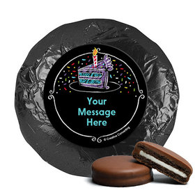 Chalk Birthday Personalized Chocolate Covered Oreos (24 Pack)