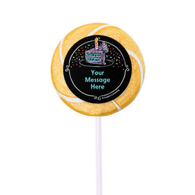 "Chalk Birthday Personalized 2"" Lollipops (24 Pack)"