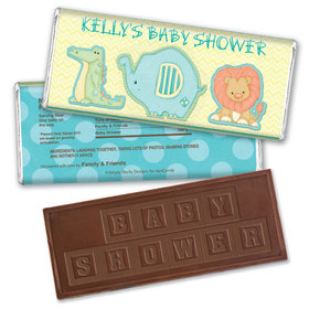 Gentle Nature Personalized Embossed Chocolate Bar Assembled