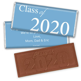 "Graduation Personalized Embossed Chocolate Bar ""Class Of"" and Year"