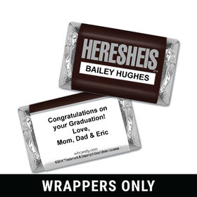 "Graduation Personalized HERSHEY'S MINIATURES Wrappers HERESHEIS ""Here She Is"""