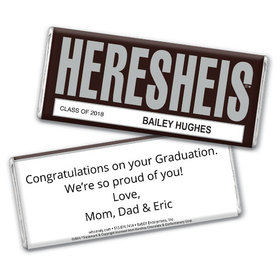 Classic HERESHEIS Graduation Personalized Hershey's Bar Assembled
