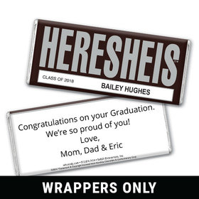 Classic HERESHEIS Graduation Personalized Candy Bar - Wrapper Only