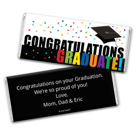 Personalized Graduation Confetti Chocolate Bar Assembled