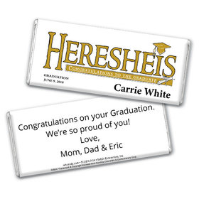 Her Diploma Personalized Hershey's Bar Assembled