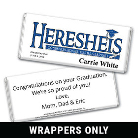 Her Diploma Personalized Candy Bar - Wrapper Only