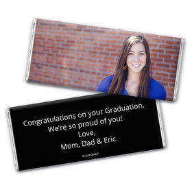 Graduation Personalized Chocolate Bar Full Photo