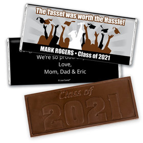 Graduation Personalized Embossed Chocolate Bar Tassle Worth the Hassle