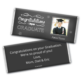 Cute Grad Frame Personalized Candy Bar - Wrapper Only