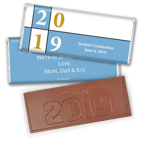 Graduation Personalized Embossed Chocolate Bar Pop Art Year Square
