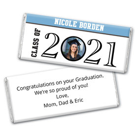 Graduation Personalized Chocolate Bar Circle Year Photo