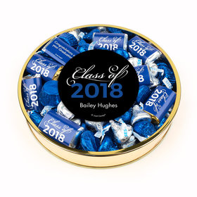 Personalized Blue Graduation Class Of Large Plastic Tin Hershey's & Reese's Mix