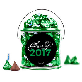 Graduation Script Green Paint Can with Sticker