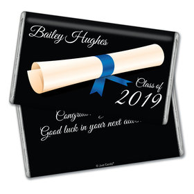 Personalized Graduation Scroll Giant 1lb Hershey's Chocolate Bar