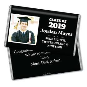 Personalized Graduation Simple Photo Giant 1lb Hershey's Chocolate Bar
